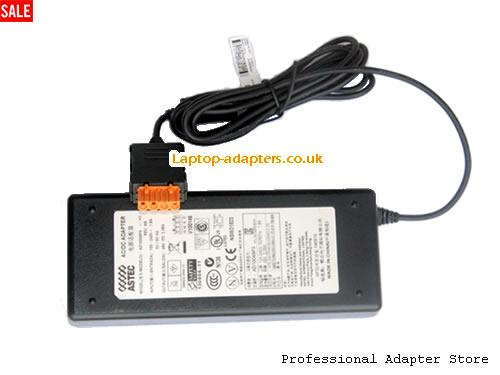 UK Genuine ASTEC AD10048P3 Ac adapter 48V2.08A 1704H2004K02L 100W Power supply -- ASTEC48V2.08A100W-4FPin