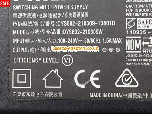 Image 2 for UK Genuine Philips DSY602-210309-13801D AC Adapter 21.0v 3.09A 65W DYS602-110309W Power Supply -- PHILIPS21V3.09A64.89W-5.5x2.5mm