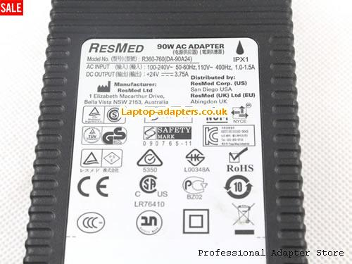 RESMED 24V 3 75A Laptop ac adapter | laptop power supply | Laptop
