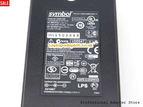 image 3 for  SYMBOL 5V 2A Laptop AC Adapter, 5V 2A Power Adapter, 5V 2A Laptop Battery Charger SYMBOL5V2A10W-4.0x1.35mm